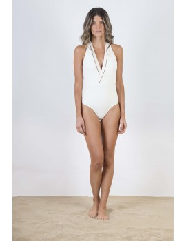 RUSTIC CABANA ONE PIECE WITH LEATHER DETAIL